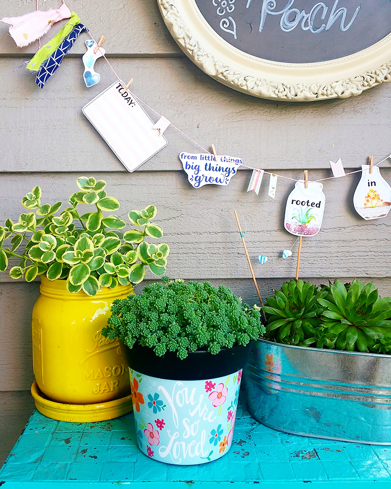 hybrid succulent garland by Jaime Favor   Illustrated Faith Print & Pray Shop   papercrafting project tutorial