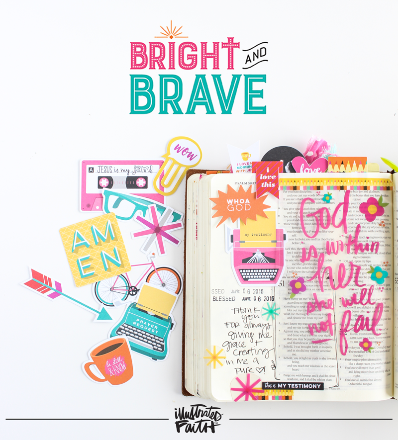 Illustrated Faith Bright and Brave collection by Bella Blvd - new summer 2016 release