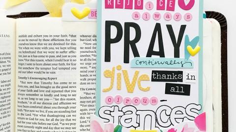 Prayer Pockets: 1 Thessalonians 5:16-18