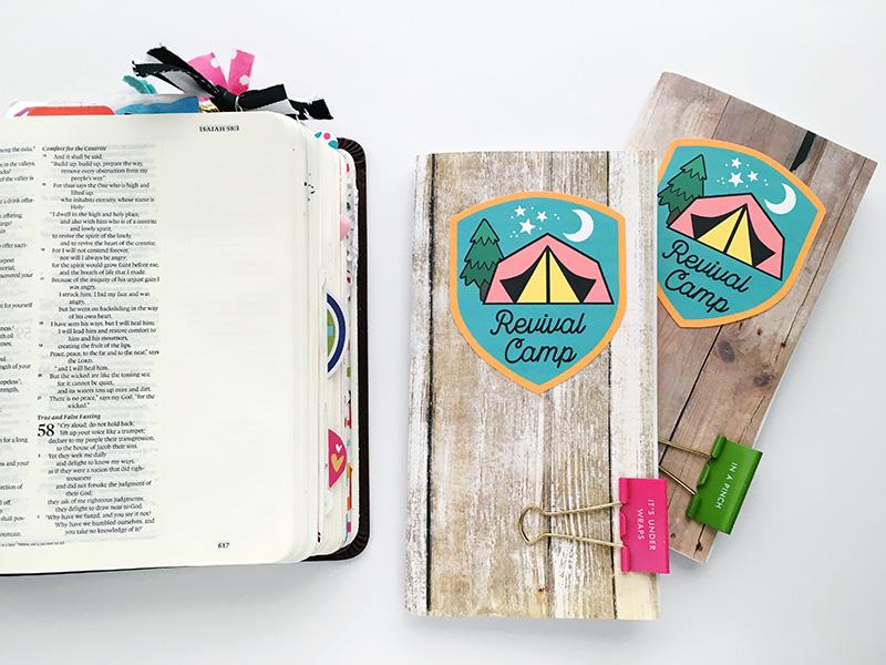 hybrid faith art journaling Revival Camp by Bailey Jean Robert