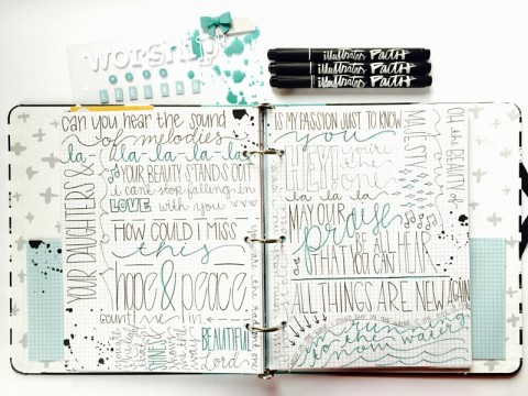 Worship Doodles | Lettering with Leeland