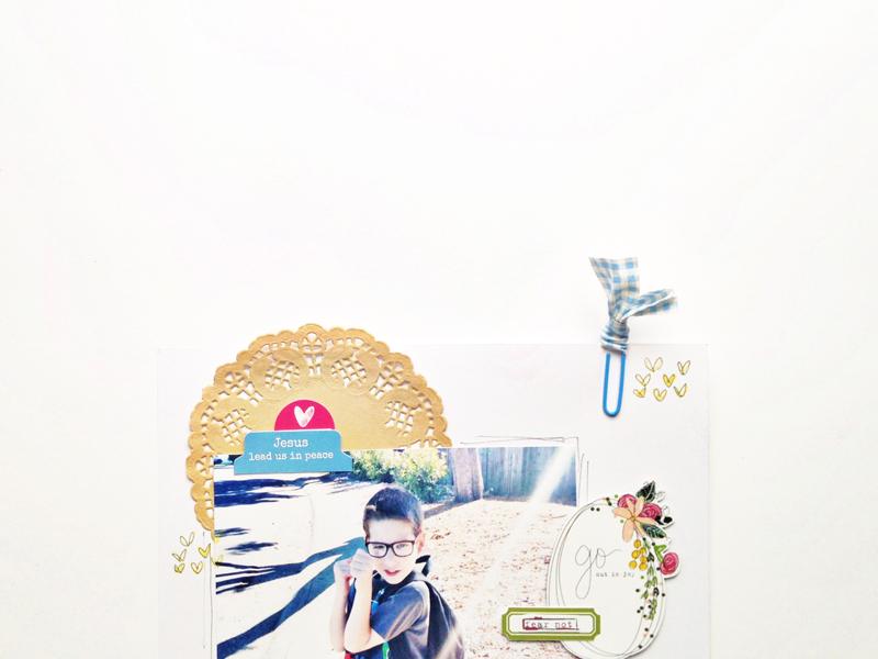 process video - mixed media scrapbooking art journaling by Andrea Gray