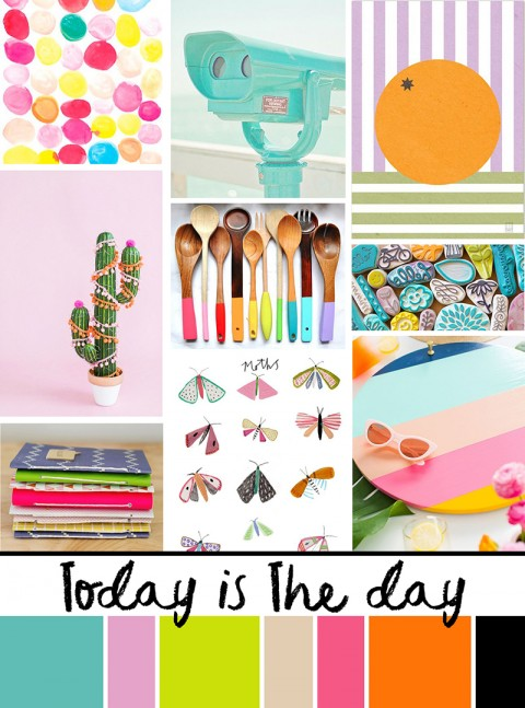 """August Artist Mood Board: """"Today is the Day!"""""""