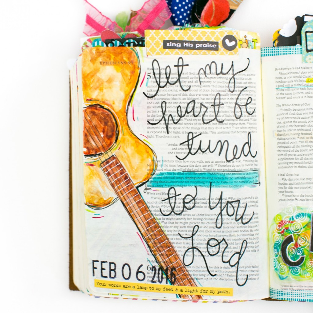 a walk through of some of Amy Bruce's favorite Bible Journaling entries and how this journey has changed her | Illustrated Faith
