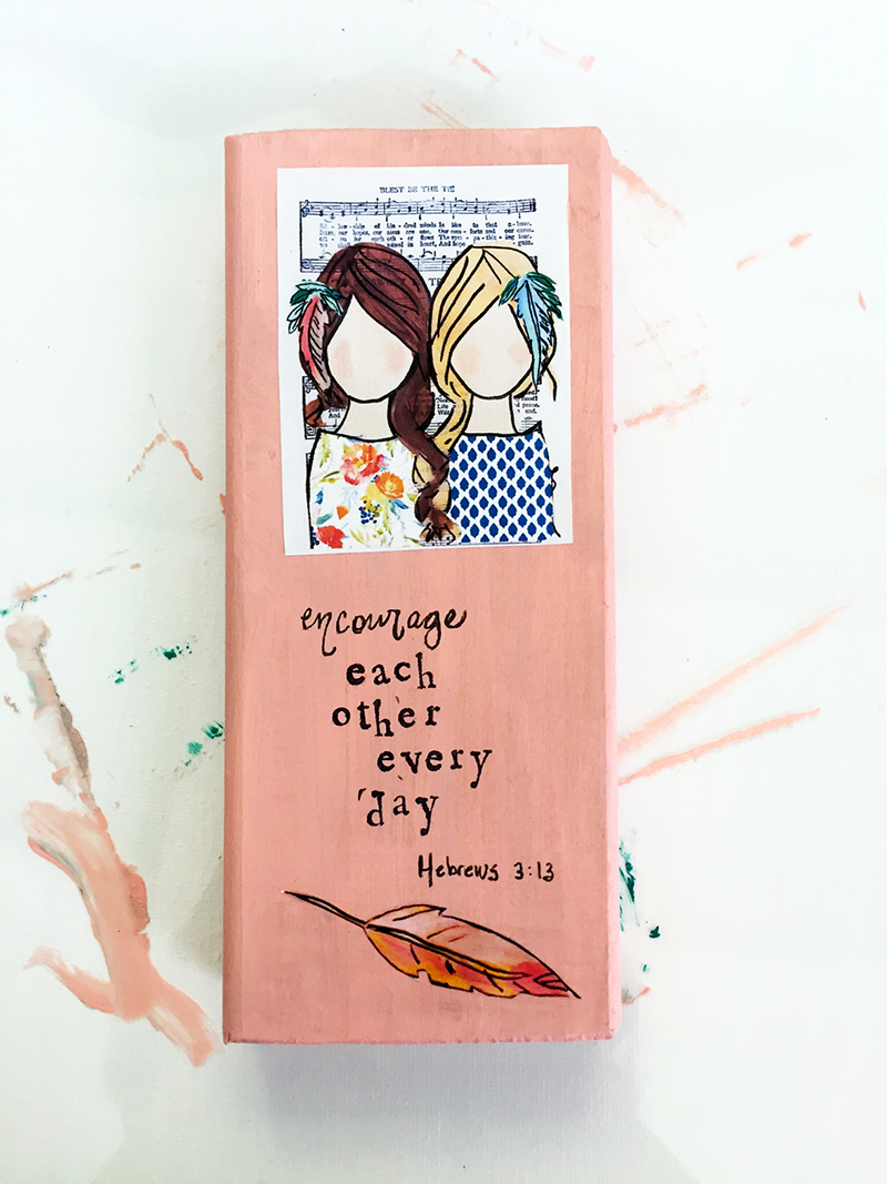 hybrid mixed media faith home decor by Beth Cupitt | Illustrated Faith Guest Blogger