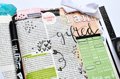 hybrid mixed media art journaling Bible entry by Leah Schumacher
