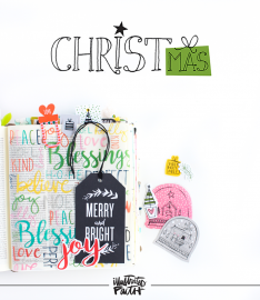 Illustrated Faith CHRISTmas Collection by Bella Blvd | Summer 2016 Release | Bible Journaling Entry by Shanna Noel