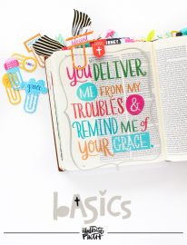 """Illustrated Faith Basics """"Extension"""" Collection by Bella Blvd   2016 Summmer Release   Bible Journaling entry by Shanna Noel"""