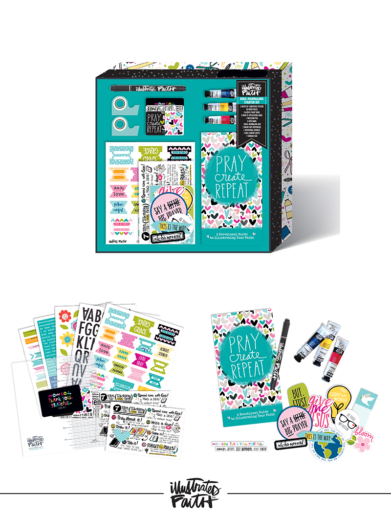 Illustrated Faith Bible Journaling Starter Kit by Bella Blvd | 2016 Mid-Release