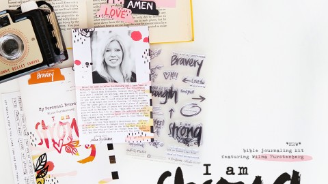I AM STRONG | bible journaling kit featuring Wilna Furstenberg