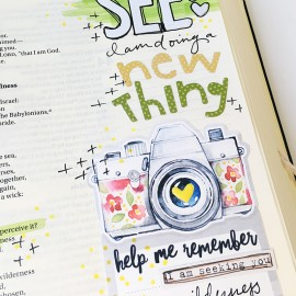 """hybrid mixed media Bible journaling """"A New Thing"""" by Bailey Jean Robert"""