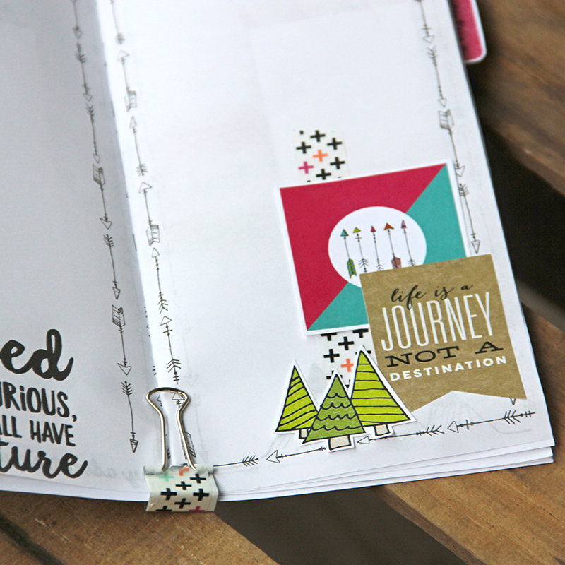 hybrid traveler's notebook assembly and decoration process video by Allie Trumpower for Illustrated Faith