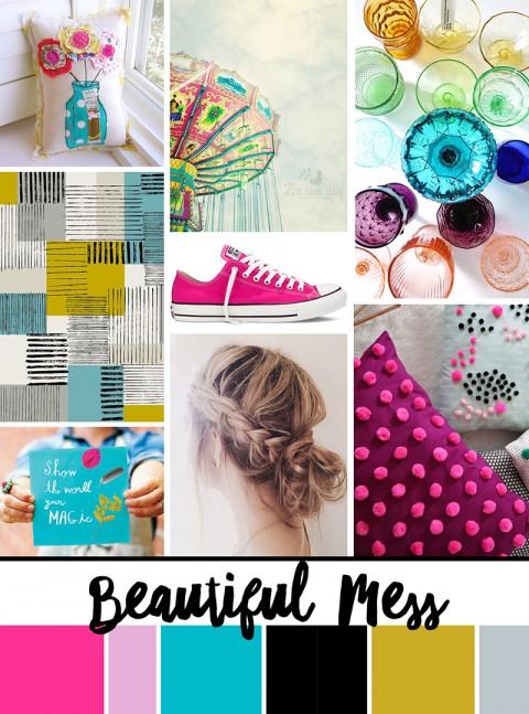 "September Artist Mood Board: ""Beautiful Mess"""