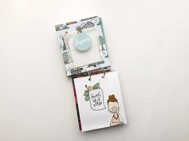 hybrid mini album step by step process tutorial | Practicing the Possible Mini Book with Brandi Kincaid