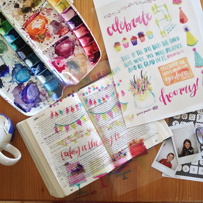 hybrid mixed media art journaling Bible entry by Brianna Showalter | Appreciating Your Kids in Your Bible