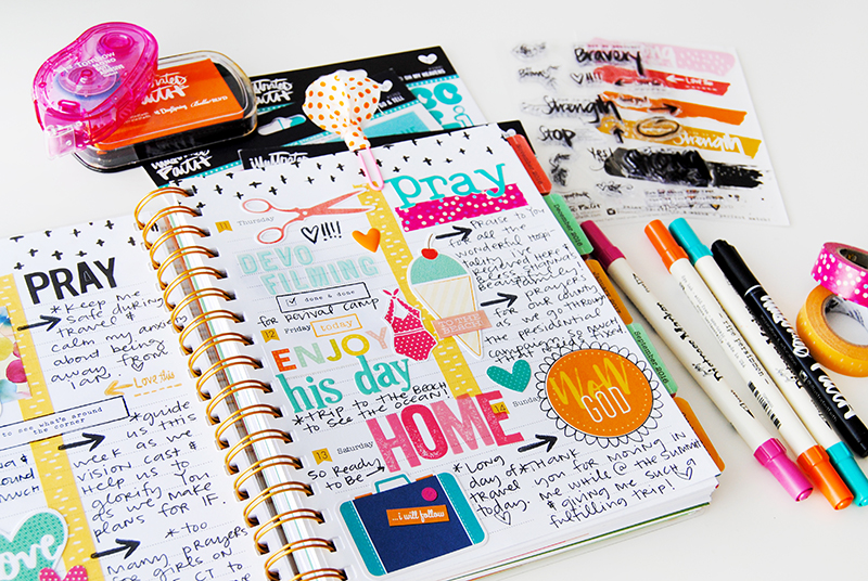 hybrid and papercrafting creative faith planner by Elaine Davis | Illustrated Faith by Bella Blvd