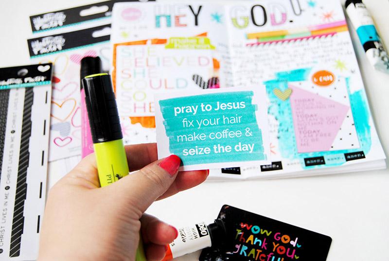 hybrid mixed media prayer journal entry by Elaine Davis