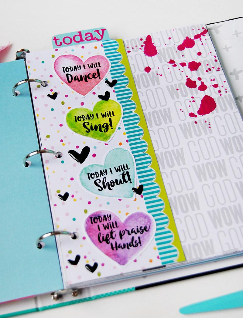 hybrid paper crafting praises bookmark by Elaine Davis