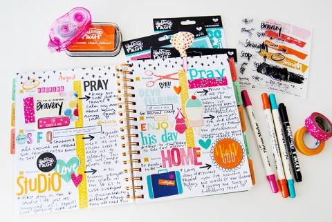 hybrid and papercrafting creative faith planner by Elaine Davis | Illustrated Faith by Bella Blvd