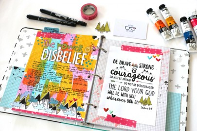 process video tutorial | mixed media faith art journaling by Natalie Elphinstone | Power of Disbelief