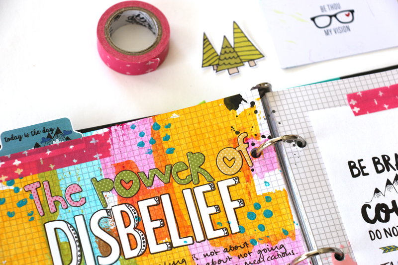 process video tutorial   mixed media faith art journaling by Natalie Elphinstone   Power of Disbelief