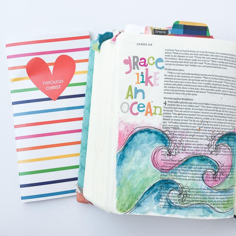 mixed media watercolor illustration art journaling Bible entry by Bekah Blankenship