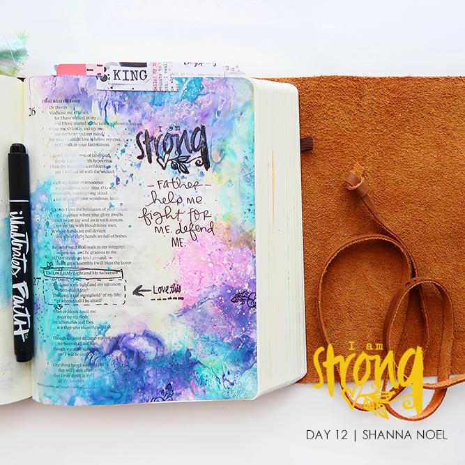 iamSTRONG12_SQ bible journaling