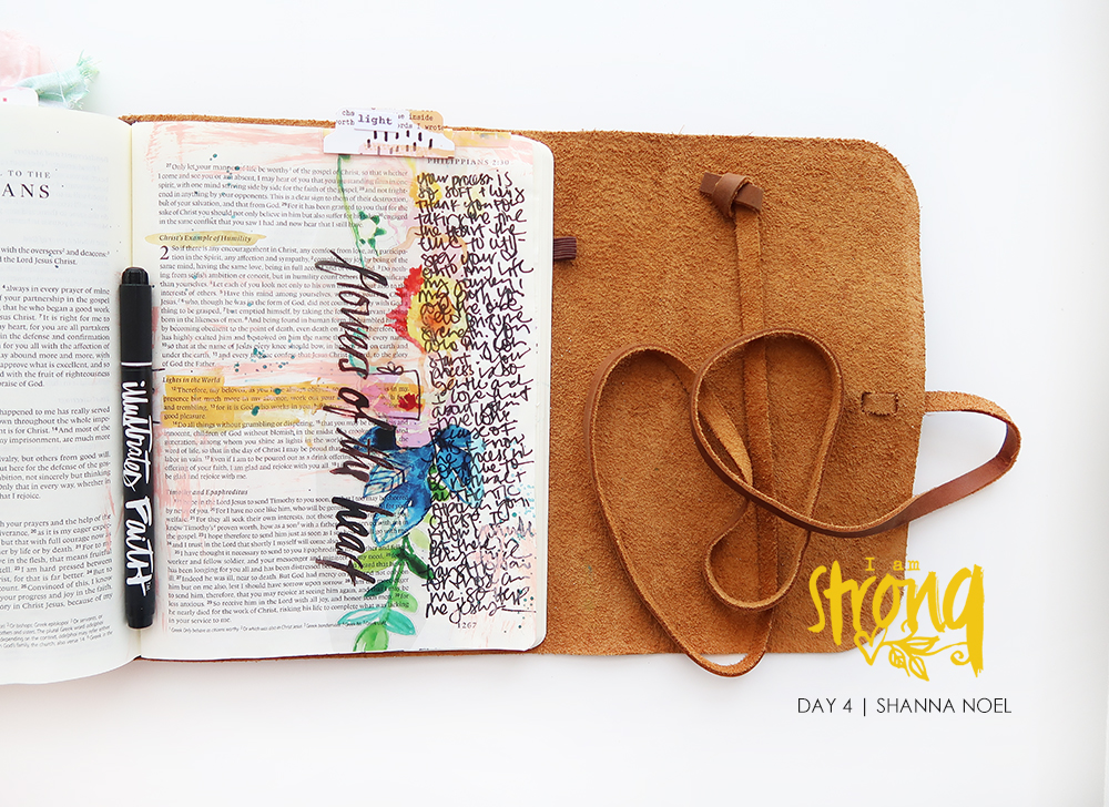 iamSTRONG4 bible journaling