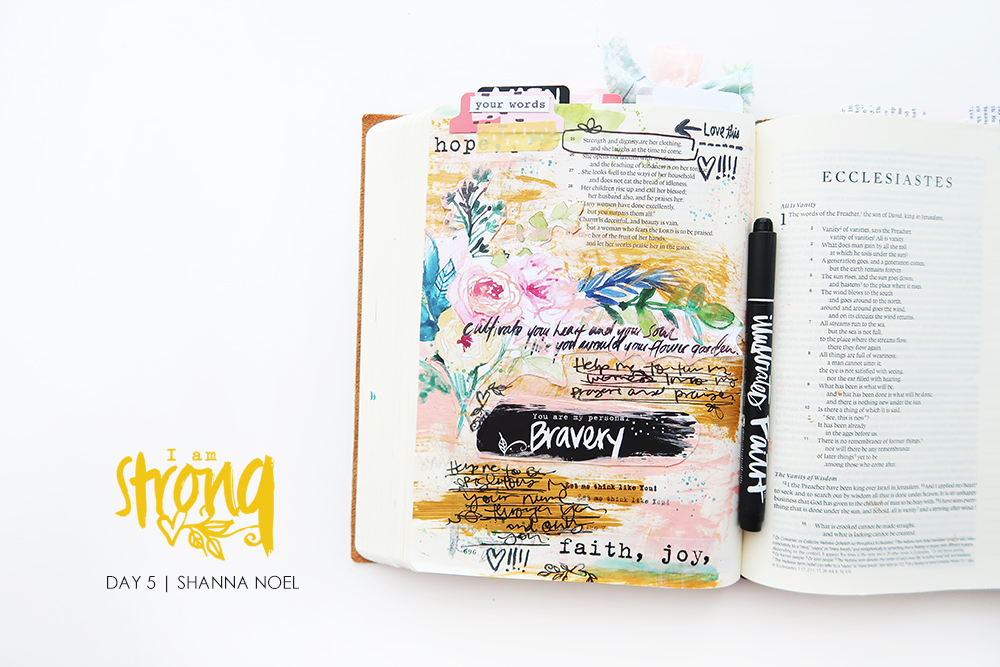 iamSTRONG5 bible journaling