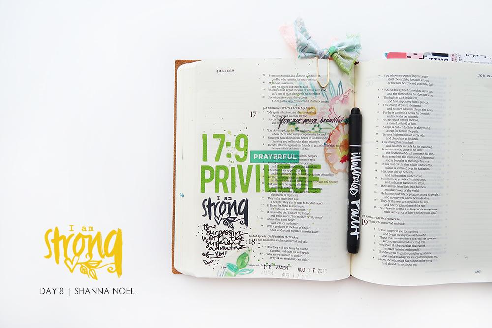 iamSTRONG8 bible journaling