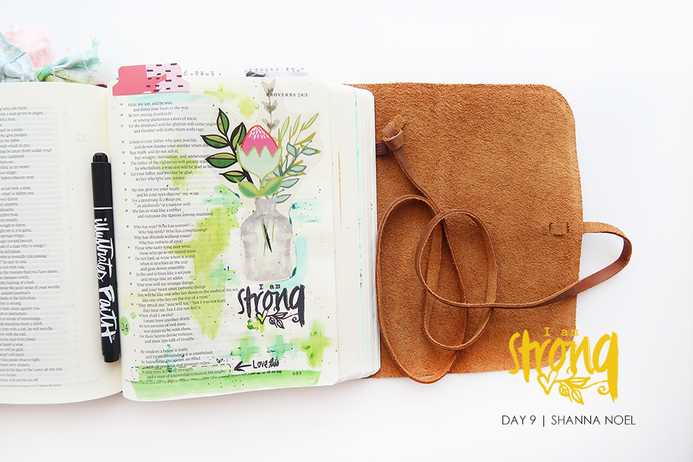 iamSTRONG9_web bible journaling