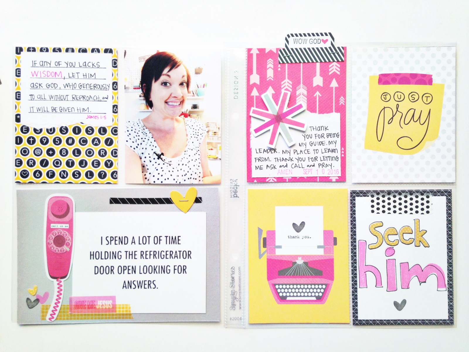process video faith pocket scrapbooking by  Andrea Gray   Seek Him and Pray
