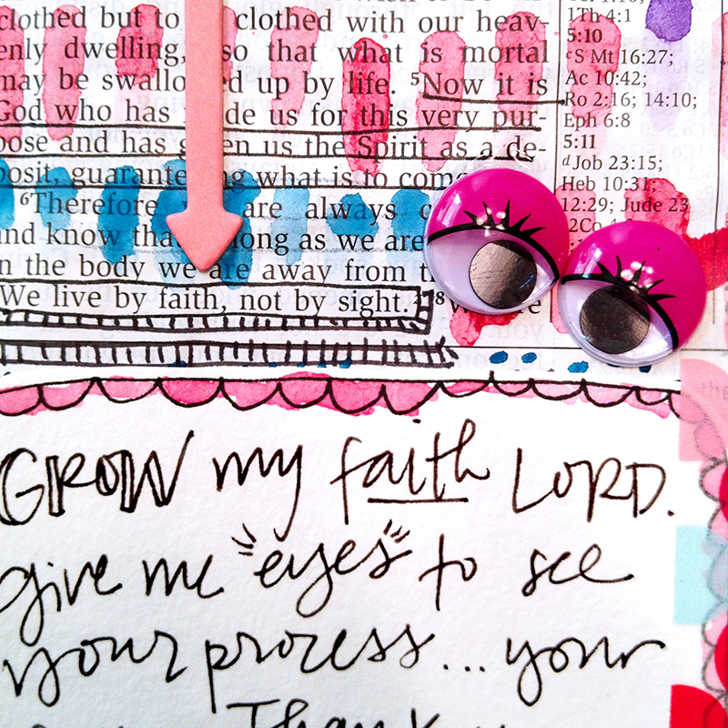 hybrid mixed media watercolor Bible journaling entry by Brianna Showwalter