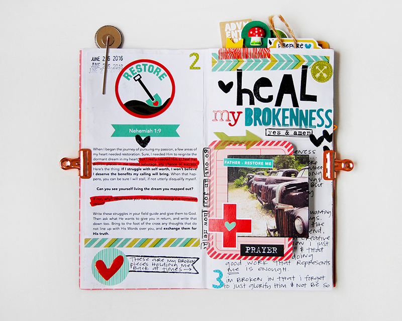 hybrid faith art journaling | 7 Things I Learned At Revival Camp by Elaine Davis | Illustrated Faith Revival Camp