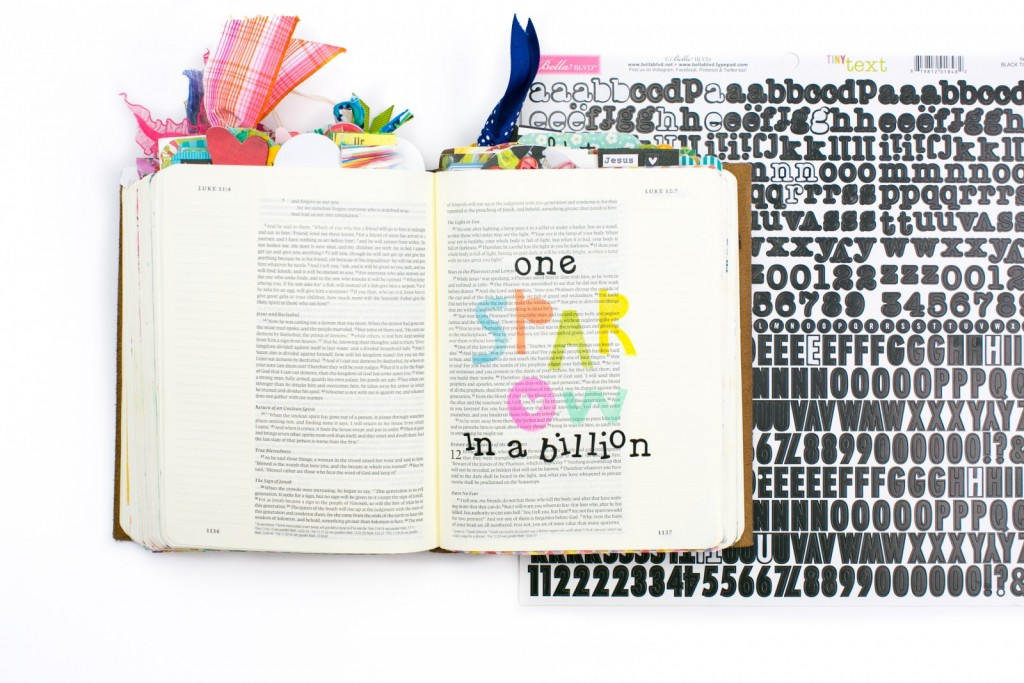 step by step process tutorial bible journaling entry by Amy Bruce | One sparrow in a billion