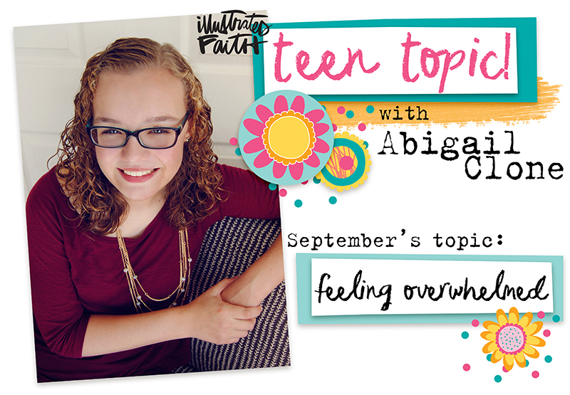 mixed media art journaling entry by Abigail Clone | Teen Topic: Feeling Overwhelmed