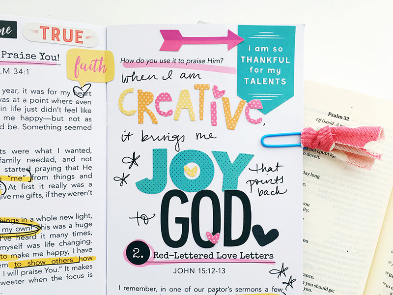 journaling and Bible journaling by Bailey Robert | How He Loves devotional kit featuring Stephanie Buice