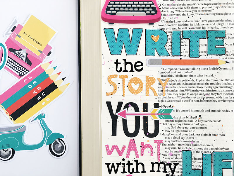 Write Your Story | Bible journaling entry by Bailey Robert | Illustrated Faith Bright & Brave |