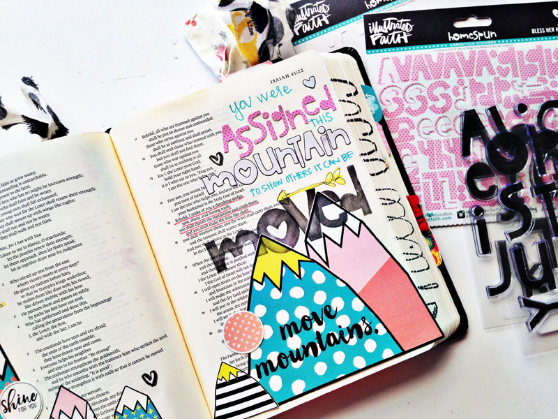 process video | hybrid mixed media Bible journaling by Andrea Gray