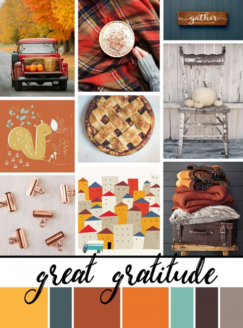 November Artist Mood Board: Great Gratitude