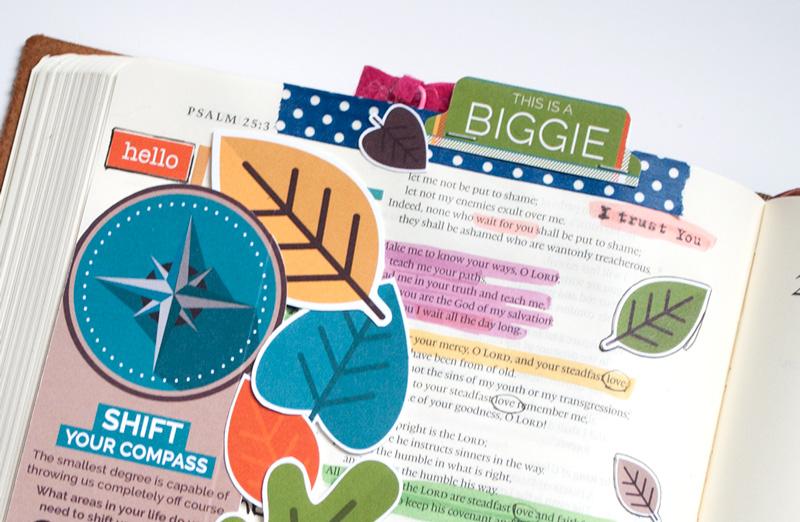 digital hybrid bible journaling by Leah Schumacher | Shift Your Compass