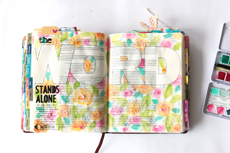 process video watercolor Bible journaling entry by Natalie Elphinstone