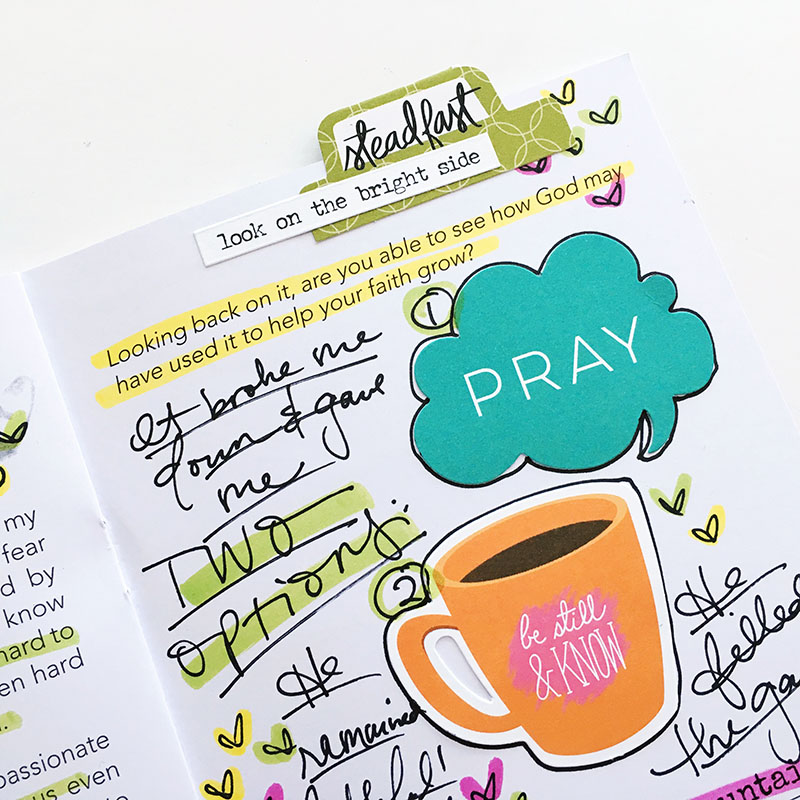 mixed media faith art journaling by Bailey Robert | Be Still, Beloved | How He Loves Us, Day 9