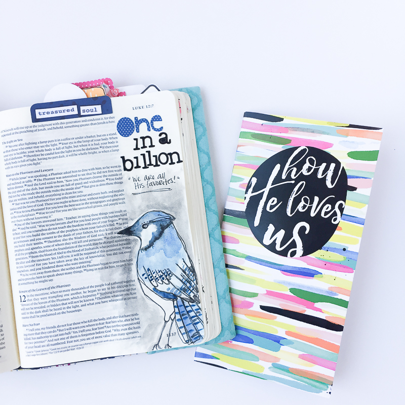 watercolor Bible journaling illustration by Bekah Blankenship | One in a million | Illustrated Faith How He Loves Us devotional by Stephanie Buice