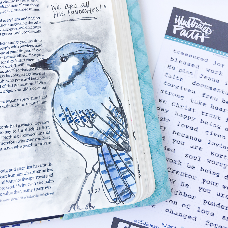 watercolor Bible journaling illustration by Bekah Blankenship   One in a million   Illustrated Faith How He Loves Us devotional by Stephanie Buice