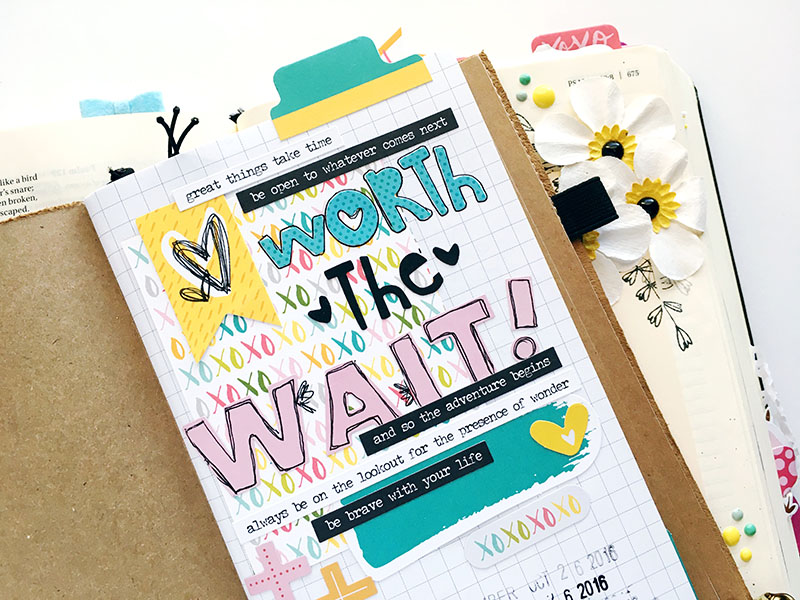 traveler's notebook entry by Bailey Robert | Worth the Wait series intro | Illustrated Faith by Bella Blvd You Are Loved Collection