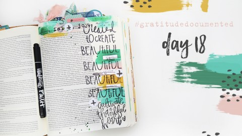 Gratitude Documented Day 18 Process Video
