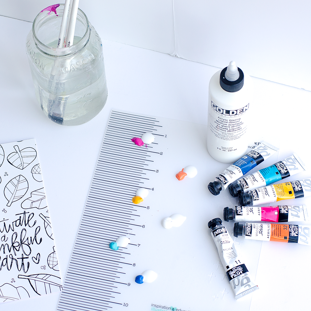 mixed media tutorial - what is mixed media? by Heather Greenwood | acrylic paint, india ink | Gratitude Documented