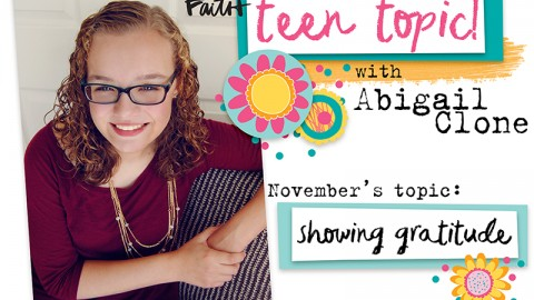 Teen Topic: Showing Gratitude