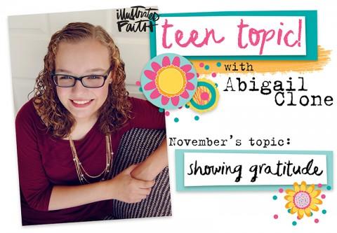 Teen Topic: Showing Gratitude